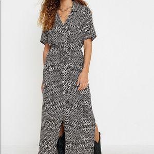 UO Ditsy Floral Button-Through Maxi Dress